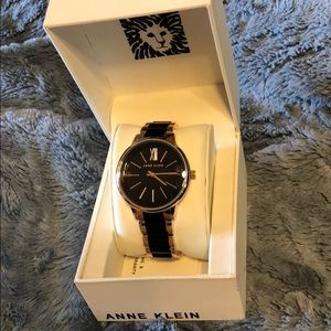 NWOT Black/Rose Gold Tone Anne Klein Watch